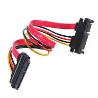 Мужчины к женщине 7 + 15-контактный интерфейс Serial ATA SATA расширение мощности кабель для передачи данных