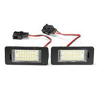 24 LED фонарь освещения номерного знака для Ауди ТТ В5 А4 А5 С5 Фольксваген Пассат р36 2008