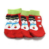 Снеговик выкройка симпатичного питомца рождественские носки для собак носки