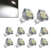 10X gu10 7W 640LM чистый белый 16 SMD 5630 LED лампочки лампы AC85-265V