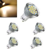 5X 6.4 Вт Лампа GU10 16 SMD 5630 Сид LED теплый белый спот Лампа 185-265в
