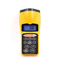 Ф-3007 цифровой LCD 18m ультразвуковой лазерный измеритель расстояния дальномер medidor trena охоты измерение