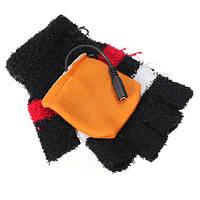 USB с подогревом теплые шерстяные митенки перчатки варежки