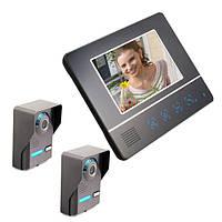 ENNIO SY811FA21 7 дюймов TFT Цвет экрана Видеодомофон Дверной звонок Дверной телефон