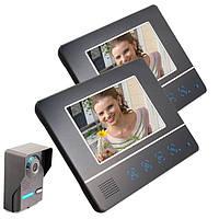 ENNIO SY811FA12 7 дюймов TFT Цвет экрана Видео домофон Дверной звонок Дверной телефон