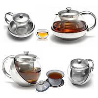 Стекло из нержавеющей стали сыпучих чай листья чайник с infuser 750 мл 500 мл