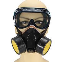 Двойной противопылевой респиратор маска набор стаканов аэрозольной краской промышленных газов
