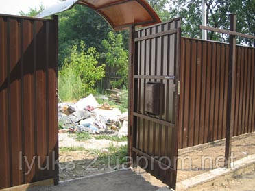 Ворота и калитки из профнастила