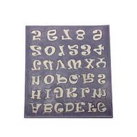 Буква алфавита номер помадки торт силиконовые формы печенья мыла прессформы