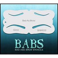 Трафарет брови для аэрографа Graftobian Bad Ass Airbrush Brow Stencils Gloria