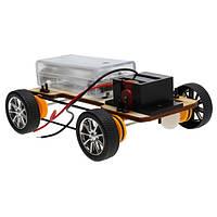 DIY деревянная полного привода электрический автомобиль собирает творческие игрушки