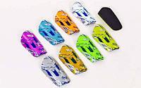 Щитки футбольные FB-6330 (пластик, EVA, р-р S-M, цвета в ассортименте)