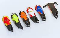Щитки футбольные с защитой лодыжки PM FB-662A-M (пластик, EVA, l-20см, р-р М, цвета в ассортименте
