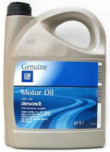 Синтетическое моторное масло GM 5W-30 dexos2 Original Synthetic Longlife Oil 5L