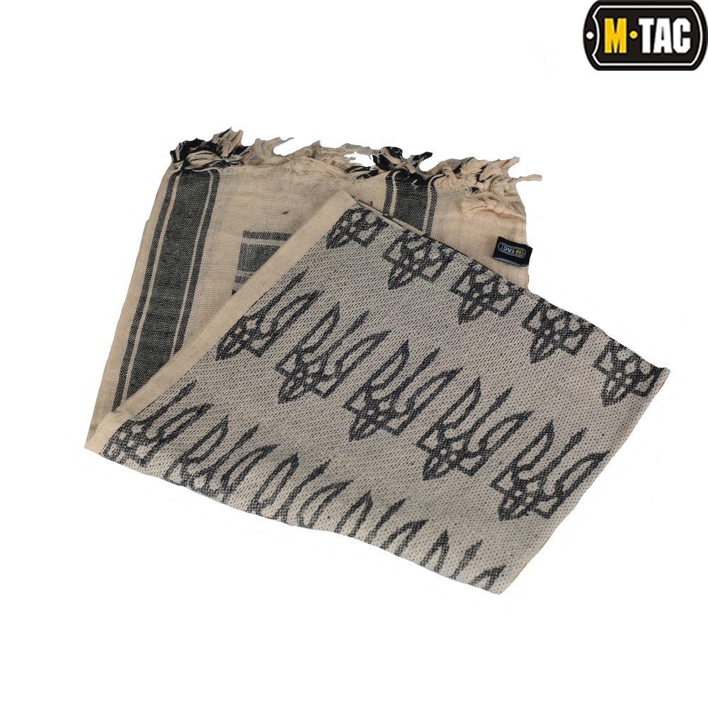 Шарф шемаг з тризубом хакі/чорний (M-Tac)