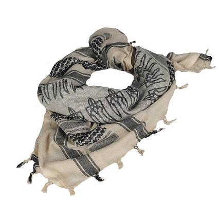 Шарф шемаг з тризубом хакі/чорний (M-Tac), фото 2