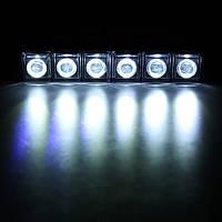 Большая мощность 6 LED drl 12/24v 6w универсальная фара с системой DRL