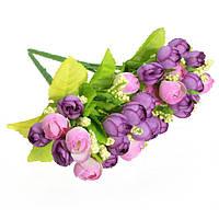 Красивые розы искусственные шелковые цветы букет