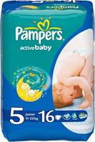 Подгузники 5 Junior 11-18кг 16шт Active baby Pampers 1/1