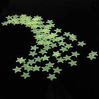 Хонана DX-010 100PCS 3CM флуоресцентный свет звезды стикер стены