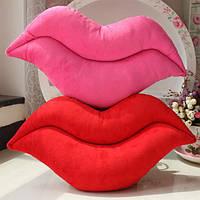 Творческий смешно красная роза красная губа бросок подушек плюшевый диван кресло украшение автомобиля подушку