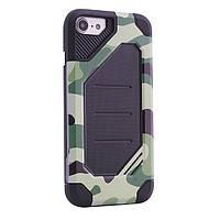 "TPU+PC чехол MOTOMO (Military) для Apple iPhone 7 plus / 8 plus (5.5"") Зеленый / Камуфляж"