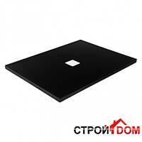 Прямоугольный душевой поддон Besco Nox UltraSlim Black 100х80 чёрный