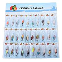30x металла рыболовные приманки блесны блесны разных рыболовных крючков снасти