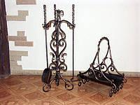 """Каминный набор с дровницей кованый """"Ричард"""" арт. kpr.4 (без дровницы)"""