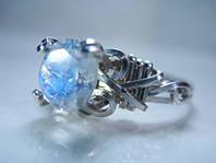 """Серебряное кольцо """"Радуга"""" с лунным камнем"""
