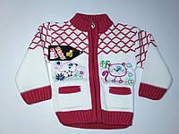 Теплая кофта на девочку с молнией 1 год, фото 1