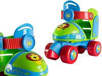 Детские роликовые коньки регулируемые 29-34 Nils NA6148 зеленые