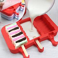 Креатив Силиконовый Мороженое Лед Лед Лелли Форд Род Ледяная плесень Красный пищевой класс