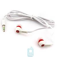 Наушники Philips SHE7055 в пакете бело-красные