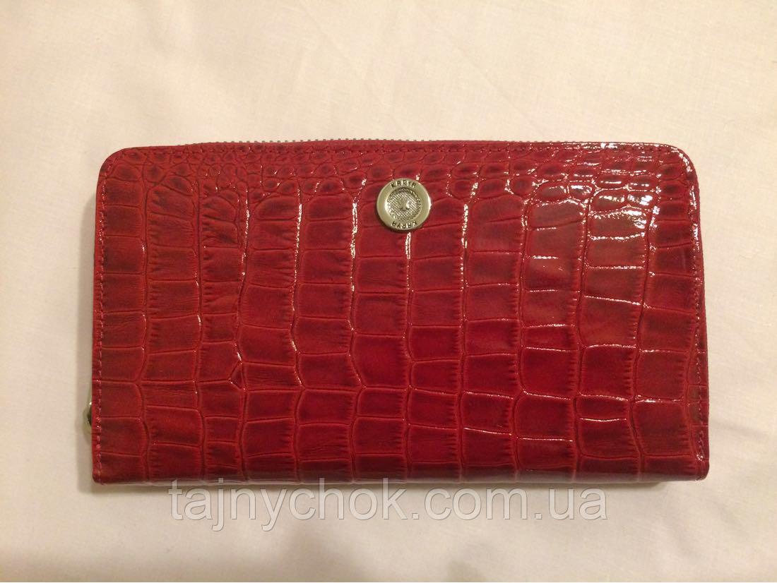 5a749ef5cafd Кошелек женский на молнии кожаный красный KARYA: продажа, цена в ...
