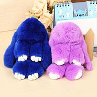 Cute Sleepy Rabbit Брелок Real Rabbit Fur Plush Сумка Кулон Украшения Аксессуары Подарок для детей