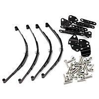 4шт 1/10 Лист Спрингс Комплект HighLift Шасси для 1/10 D90 RC Crawler Авто Части Черный