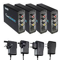 HD - 3 RCA AV CVBS Композитный и S-Video R / L аудио конвертер