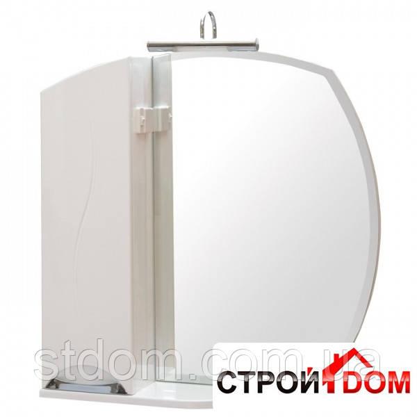 Дзеркало Аква Родос Глорія з пеналом і підсвічуванням (ZGLP75 л)