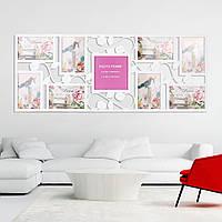 9 изображений Фото Family Picture Collage Дисплей Декорация стен Свадебное Подарочная висячая рамка
