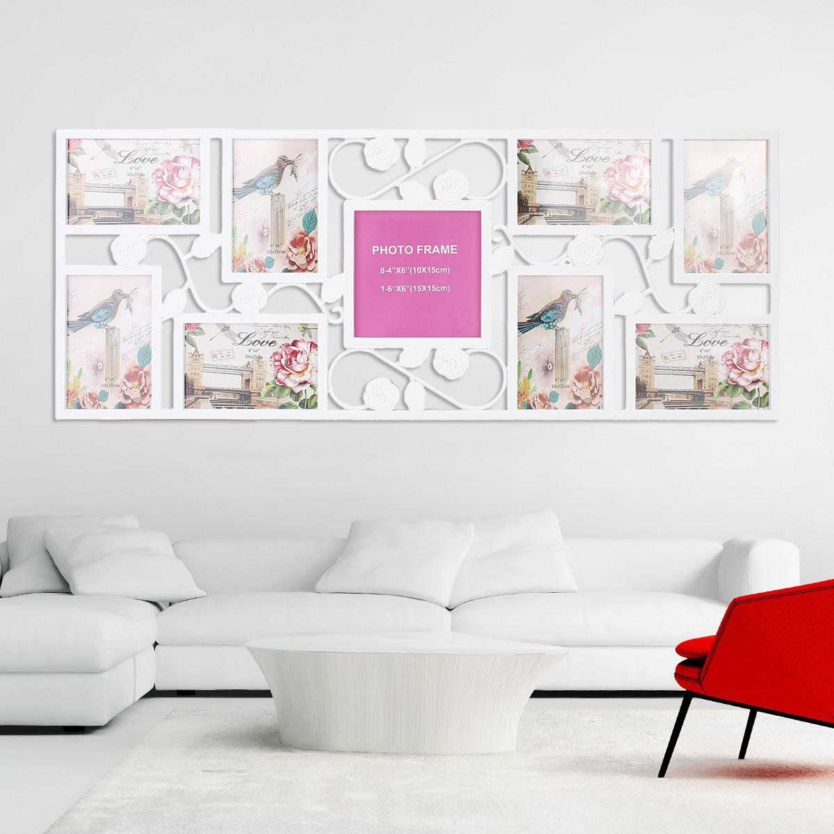 9 изображений Фото Family Picture Collage Дисплей Декорация стен Свадебное Подарочная висячая рамка - ➊TopShop ➠ Товары из Китая с бесплатной доставкой в Украину! в Днепре