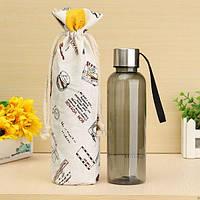 500 мл Бутылка для бизнеса Портативный фруктовый сок Чай Чашки Пластиковые прозрачные бутылки с водой