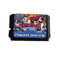 16 Bit Street of Rage Serise 5 в 1 Game Cartrige для MD Sega Mega Drive