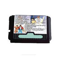 16 бит 15 в 1 Black Cart Carte для MD Sega Mega Drive