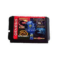 16 бит Mortal Kombat Serise 5 в 1 Game Cartrige для MD Sega GENESIS
