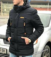 Курточка-парка зимняя мужская черная