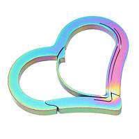 Сердце Форма 3 CR 13 Сталь Анти Кража Карабин Брелок Крюк Клип-пряжка EDC Инструмент