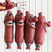 Funny Pet Собака Игрушки Sausage Squeaky Toys Здоровый мягкий пластик Собака Игрушки Молярные игрушки Pet Small Gift
