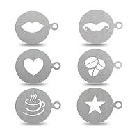 KCASA KC-LM01 1 шт.Нержавеющая сталь кофе Шаблон Шаблонный трафарет Cappuccino Latte Art Mold Набор