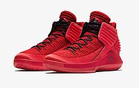 Баскетбольные кроссовки Nike Air Jordan XXXII 32 All Red Реплика, фото 1